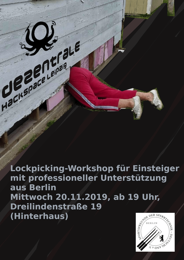Lockpicking Workshop Flyer